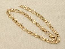 Estate Beautiful 14K Yellow Gold Italy Figaro Link Bracelet
