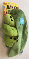 Bark Squeaky/Crinkle Dog ToyEdgy Veggies Peas in Pod Ednas Edamame Packs. New!