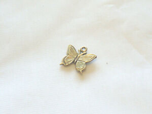 Gold plated pewter butterfly charm pendant in gift box