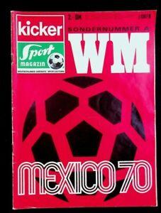 KICKER SPORTMAGAZIN SONDERHEFT WM MEXICO 70, guter Zustand, RAR !