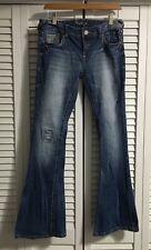 Amethyst dark wash flare distressed destroyed jeans  Junior's Size 9