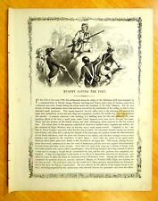 MURPHY SAVING THE FORT Print 1856 SCHOHARIE KILL NY Tories INDIANS JOSEPH BRANT