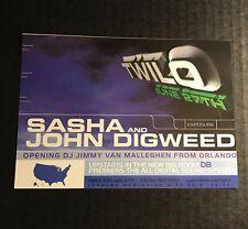 Rare 90s Club Flyer: SASHA & DIGWEED (Fri) + DANNY TENAGLIA (Sat) @TWILO NYC