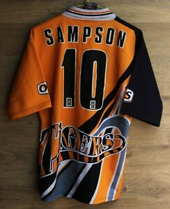 CASTLEFORD TIGERS ENGLAND #10 SAMPSON RUGBY LEAGUE SHIRT OS SIZE S ADULT 1998