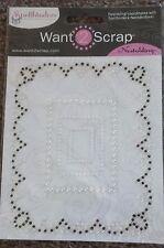 Spellbinders Nestabling enrejado rectángulos Blanco Perla Perlas Negras co-o S4-319