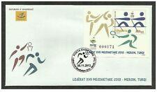 Albania 2013. The Mediterranean Games 2013 Mersin, Turkey. Sport. FDC Block MNH