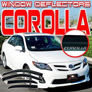 Window Deflector Side Visors Rain Vent Shade For 2008-2013 Toyota Corolla Sedan