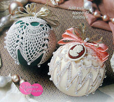 Crochet Pattern Only ~ 2 Old-fashioned Victorian Christmas Ball Ornament Covers