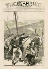 1873-Tren de impresión Antiguo España carlistas hombres armas de ataque (065)