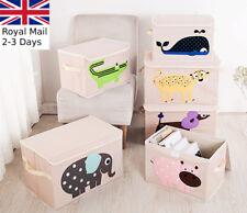 Kids Toy Animal Storage Box Portable Fabric Collapsible Organiser Children's