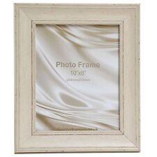 "Cornwall Range Shabby Chic Antique Distressed Cream Photo Frame 12x10"""