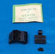 9 Weaver Pivot Mounts/Rings Mostly for Savage 99 & 98 Mauser Rifles