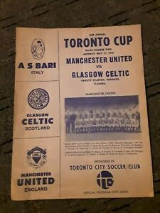 MANCHESTER UNITED VS GLASGOW CELTIC PROGRAMME. 1970. TORONTO CUP. CANADA