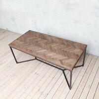 Tower Herringbone Natural Solid Oak Modern Wood Dining Table