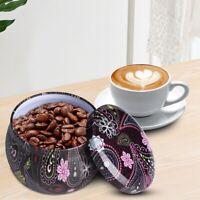 Tinplate Tea Coffee Sugar Kitchen Storage Canisters Set Caddies Jars Containers