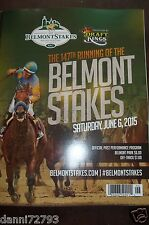"2015 Belmont Stakes ""AMERICAN PHAROAH""  PROGRAM COVER 2 TRIPLE CROWN"