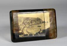 1905 Catalina Island Cigarette or Card Case - Goldtone Photograph - California