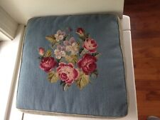 VINTAGE NEEDLEPOINT BENCH CHAIR  PILLOW