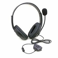 Black Deluxe Headset Headphone With Mic Microphone for Xbox 360 Live