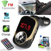 MP3 Player Wireless FM Transmitter Modulator Car Kit USB SD TF MMC LCD Remote