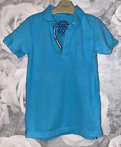 Boys Age 5-6 Years - Blue Polo T Shirt Top