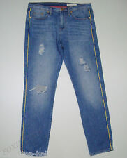 "BEAUTIFUL SASS&BIDE DISTRESSED BLUE WASH RELAXED FIT JEANS 28 ""ROLL THE DICE"""