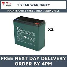 2x TN Power AGM 12V 25Ah Golf & Mobility Scooter Batteries, Replaces REC22-12