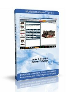 Modellbahndatei-TT Pro 4 - Zeuke, Berliner TT-Bahnen, Modellbahn-Verwaltung