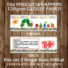 The Very Hungry Caterpillar Kitkat Chocolate Wrappers Party Favours Gift Bags
