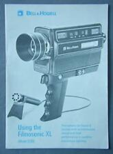 Original Bell & Howell Filmosonic Xl Owner's Manual - Model 1230