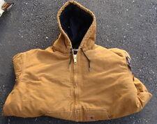 Carhartt Men's Quilted Flannel Lined Sandstone Active Jacket J130 Brown Large