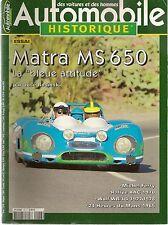 AUTOMOBILE HISTORIQUE 48 MATRA MS650 LE MANS 1965 RALLYE RAC 70 WOLF WR/1-4 77
