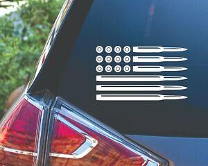 American Flag Ammo Bullet 2nd Amendment Gun Truck Car Decal Sticker
