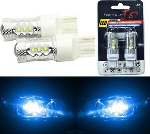 LED Light 80W 7440 Blue 10000K Two Bulbs Front Turn Signal Replacement OE