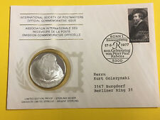 NU57) Numisbrief International Society of Postmasters mit Silber 925er  Medaille