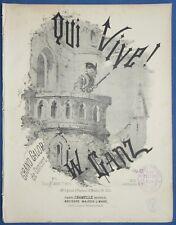 PIANO GF PARTITION WILHELM GANZ QUI VIVE ! GRAND GALOP DE CONCERT 1882 BARBIZET