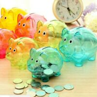Cute Plastic Piggy Bank Coin Money Cash Collectible Saving Box Children Gift