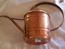 "Turkish Hand Hammered Copper Watering Can Elegant Made In Turkey 11"" Ooak!"