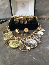 New ListingRare Vintage Set Franklin Mint The Golden Caribbean Necklace/ Watch/Earrings