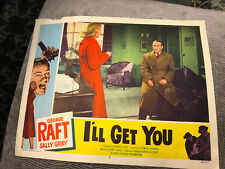 I'll Get You 1953 Lippert crime lobby card Sally Gray George Raft