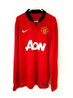 Manchester United Home Shirt 2013. Small Adults. Nike. Red Long Sleeves Football