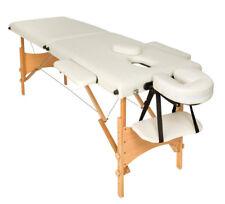 Mobile Massageliege Massagetisch Massagebank 2 Zonen klappbar schwarz B-Ware