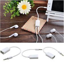 3,5mm Stecker auf 2xKlinkenbuchse Audiokabel Kopfhörer Adapter Für iPhone iPad
