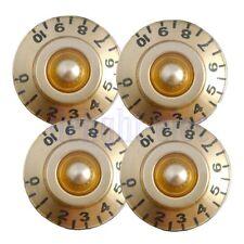 4 Pcs Golden Guitar Control Speed Tone Volume Knobs for Gibson Les Paul Parts DE