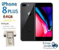 IPHONE 8 Plus 64GB Noir Reconditionné Libre / Qualité A Boîte Et Accessoires