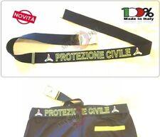 Cintura Canapa Blu Nevy Protezione Civile Vetrificata con Ricamo PC New