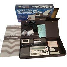Sharp CE-125 printer and Microcassette Interface