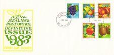 1983 New Zealand Fruits Definitive FDC with Bureau FDI.