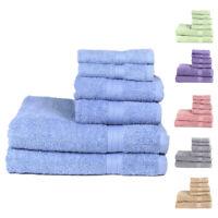 6 Piece Chelsea Bathroom Cotton Towel Set -2 Washcloth 2 Hand Towel 2 Bath Towel