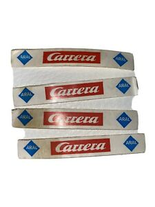 4 alte Aufkleber Carrera Aral Werbung Carrerabahn